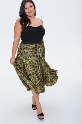 Forever 21 Plus Size Leopard Print Midi Skirt