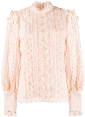 Zimmermann Flutter butterfly embroidered blouse