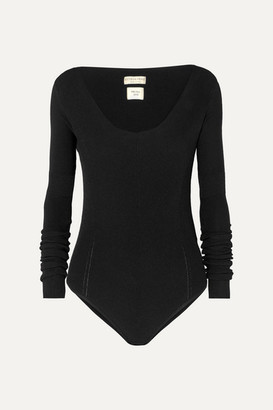 Bottega Veneta Ribbed-knit Bodysuit - Black