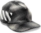 Off-White Checked Cotton-blend Cap - Gray