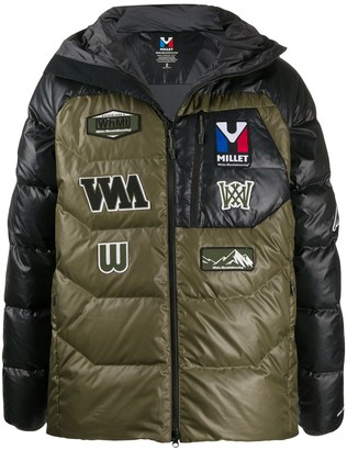 White Mountaineering Hooded Embroidered Badges Jacket