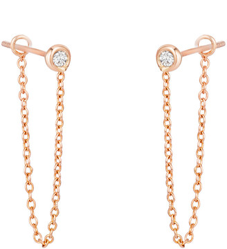 Ariana Rabbani 14K Rose Gold 0.10 Ct. Tw. Diamond Chain Drop Earrings