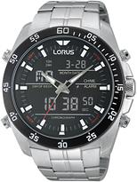 Lorus Rw611ax9 Digital Chronograph Bracelet Strap Watch, Silver/black