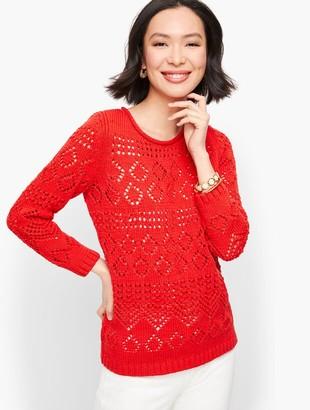 Talbots Pointelle Sweater