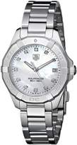 Tag Heuer Women's WAY1313.BA0915 Aquaracer Analog Display Quartz Silver Watch