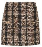 Balmain Metallic tweed miniskirt
