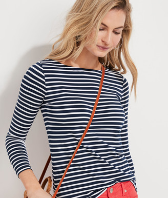 Vineyard Vines Lightweight Striped Sankaty Simple Boatneck Long-Sleeve Tee