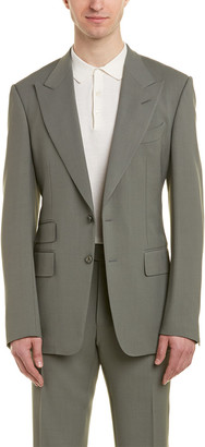 Tom Ford Shelton 2Pc Wool-Blend Suit With Flat Pant
