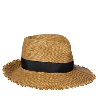 Eric Javits Fringe Pinch Fedora Hat