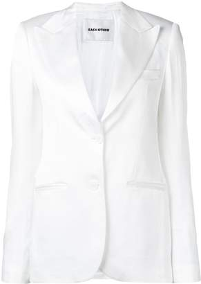 Each X Other satin tailored jacket