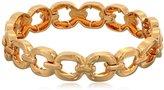 """Nine West Glitzy Links"""" Gold-Tone Crystal Link Stretch Bracelet"""