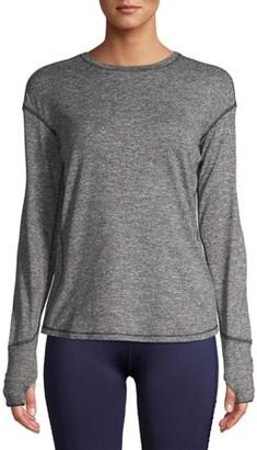 Avia Women's Active Performance Long Sleeve Crewneck T-Shirt