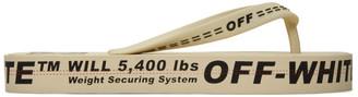 Off-White Beige Arrows Flip Flops