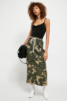 Free People Let Me In Printed Skirt