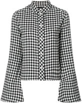Filles a papa flared sleeve gingham shirt
