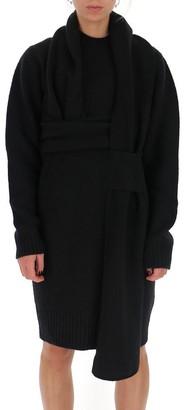 Bottega Veneta Wrap Detail Knit Dress