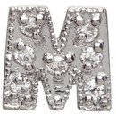 Lena Wald Initial Stud Earring in White Gold