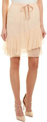 See by Chloe Frill Silk Mini Skirt