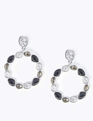 M&S CollectionMarks and Spencer Gem Hoop Drop Earrings