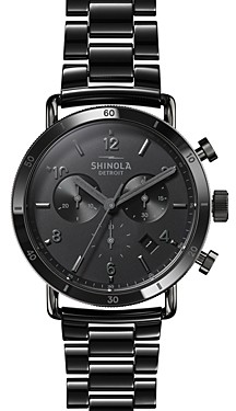 Shinola Canfield Gunmetal-Tone Sport Chronograph, 40mm