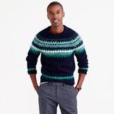 J.Crew Brushed wool Fair Isle sweater