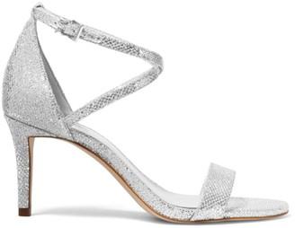 MICHAEL Michael Kors Ava Metallic Ankle Strap Sandals