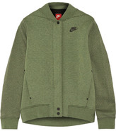 Nike Tech Fleece Perforated Cotton-blend Jersey Jacket - Army green