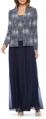 Jackie Jon Long Sleeve Glitter Jacket Dress