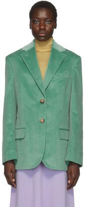Acne Studios Green Vintage Cord Blazer
