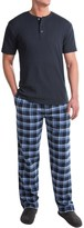 Majestic Thermal Henley and Pants Lounge Set - Short Sleeve (For Men)