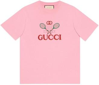 """Gucci Beverly Hills"""" cherry print T-shirt"""