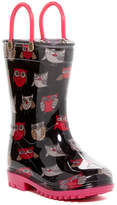 Capelli of New York Sketchy Pop Owls Rain Boot (Toddler)