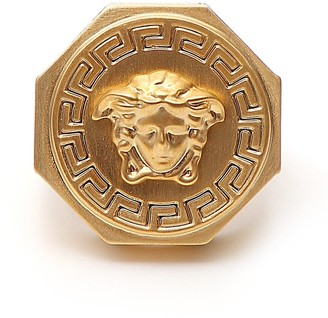 Versace Greca And Medusa Ring