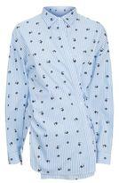 Robert Rodriguez Embroidered Stripe Shirt