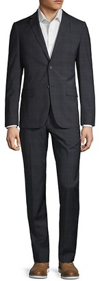 Theory Rodolf Two-Piece Plaid Suit