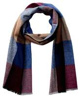 Chelsey Imports Large Check Wool Blend Scarf