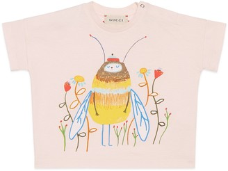 Gucci Baby Ashley Percival print T-shirt