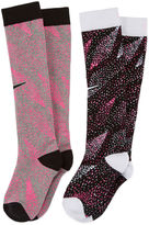 Nike 2-pk. Graphic Knee-High Socks - Girls 7-16