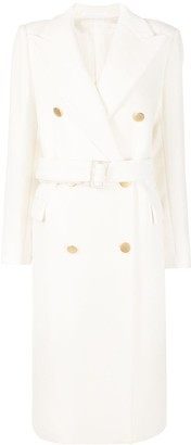 Tagliatore Double-Breasted Coat With Belted Waist