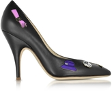 Moschino Black Leather Pumps w/Pins