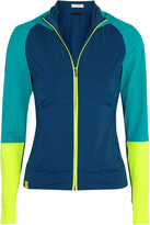 Monreal London Hooded Stretch-jersey Jacket - Teal