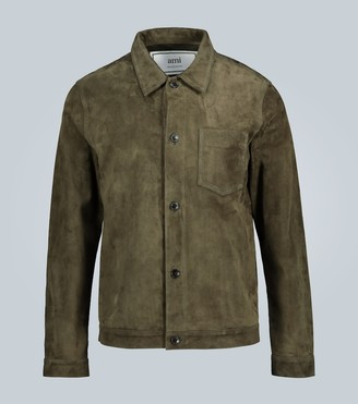 Ami Suede buttoned jacket