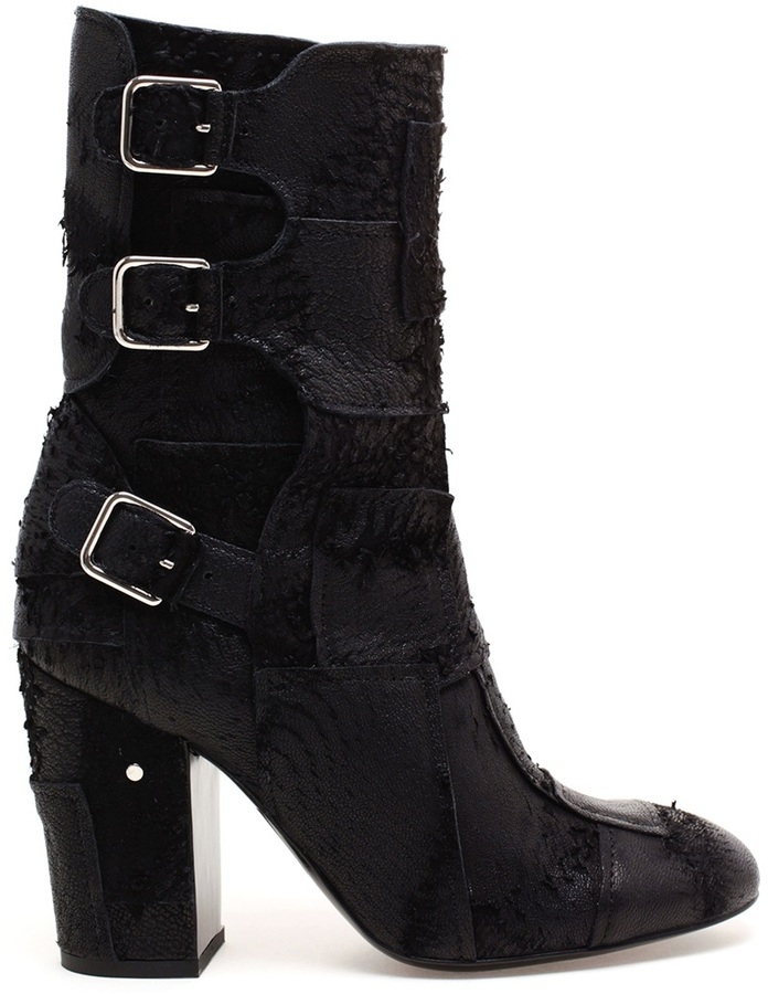 Laurence Dacade 'Merli' Patchwork Leather Biker Boots