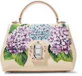 Dolce & Gabbana Lucia Small Printed Textured-leather Tote - Pastel pink