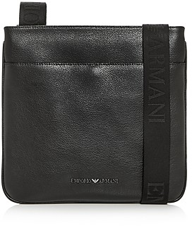 Giorgio Armani Emporio Leather Messenger Bag