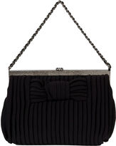 One Kings Lane Vintage Chanel Black Jersey Pleated Evening Bag