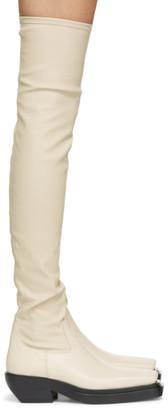 Bottega Veneta Off-White The Lean Tall Boots