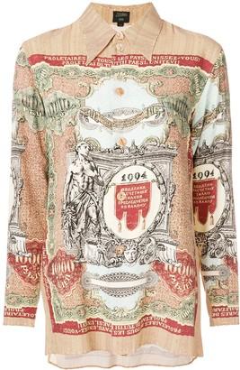 Jean Paul Gaultier Pre Owned Printed Long Sleeve Shirt