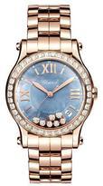 Chopard 36mm Happy Sport 18k Rose Gold Bracelet Watch with Diamonds
