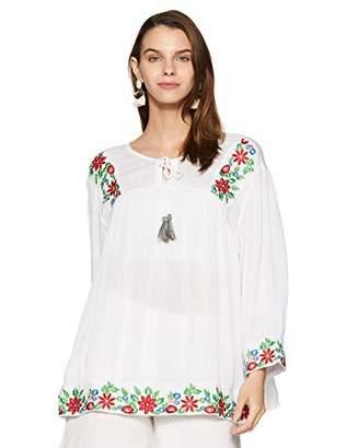 Wild Hazel Women's Viscose Embroidery Stylish Tops | Tunic | Blouse